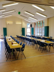hall set up tables