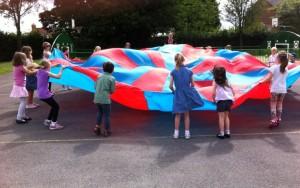 parachute outside